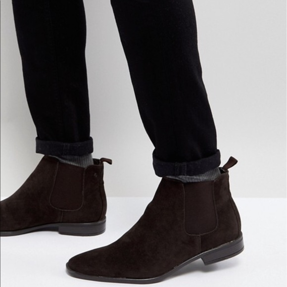 New Look Faux Suede Chelsea Boots In Dark Brown huge surprise sale online clearance cheapest price 0Vjk7w41